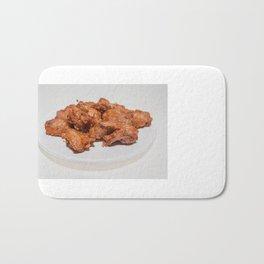 fried chicken wings Bath Mat
