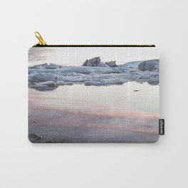 Jokulsarlon Lagoon - Sunset - Landscape and Nature Photography Carry-All Pouch