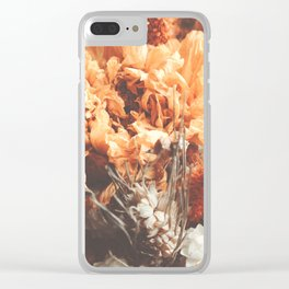 Warm Autumn Dried Flowers Photography Clear iPhone Case