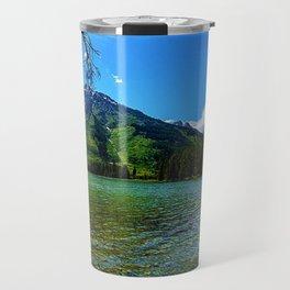 Mountain range and Lake Lee, Wyoming Travel Mug