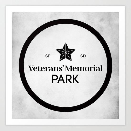Veterans' Memorial Park Art Print