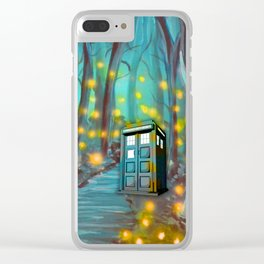 Tardis in the Glow Clear iPhone Case