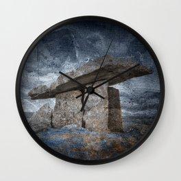 Poulnabrone Dolmen - Blue Winter Grunge Wall Clock