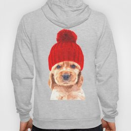 Cocker spaniel puppy with hat Hoody