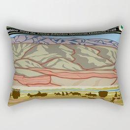 Vintage Poster - El Camino Real de Tierra Adentro National Historic Trail (2018) Rectangular Pillow