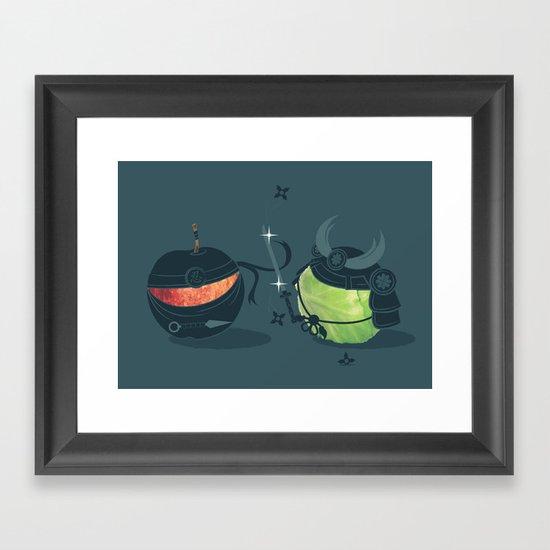 ninja vs samurai Framed Art Print