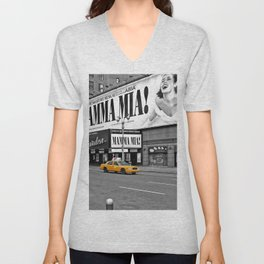 NYC - Yellow Cabs - Musical Unisex V-Neck