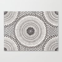 honeycomb Canvas Prints featuring Honeycomb by Mijamona