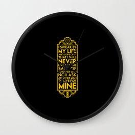 Galts Oath Wall Clock