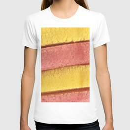 Yellow Peach Colored Bubble Gum Texture T-shirt