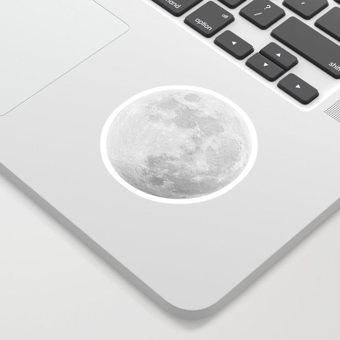 CHALK WHITE MOON Sticker