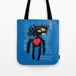 Blue Man Jazz Tote Bag