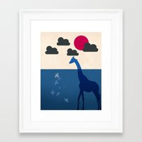 africa Framed Art Prints featuring Africa by Mehdi Elkorchi