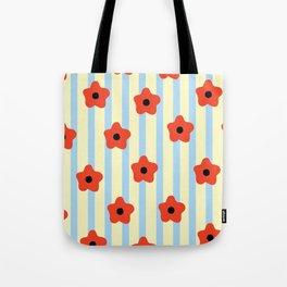 Poppies & Stripes Tote Bag