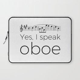 Yes, I speak oboe (2) (white) Laptop Sleeve