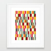 stripes Framed Art Prints featuring Stripes by Danny Ivan
