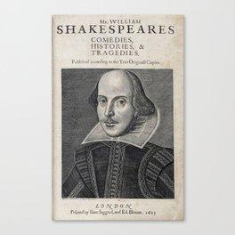 William Shakespeare Portrait Canvas Print