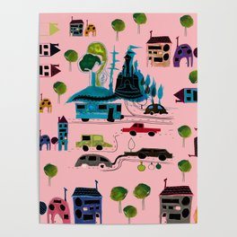 CityView pink Poster