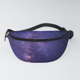 Purple Glitter Star Galaxy Fanny Pack