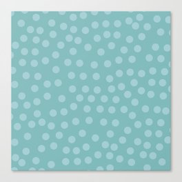 Self-love dots - Turquoise Canvas Print