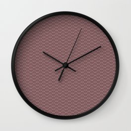 Pantone Red Pear Scallop, Wave Pattern Wall Clock