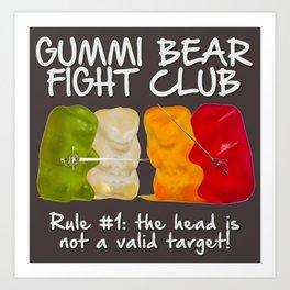 Gummi Bear F*ght Club Art Print