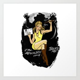 Buffy Pin up Art Print