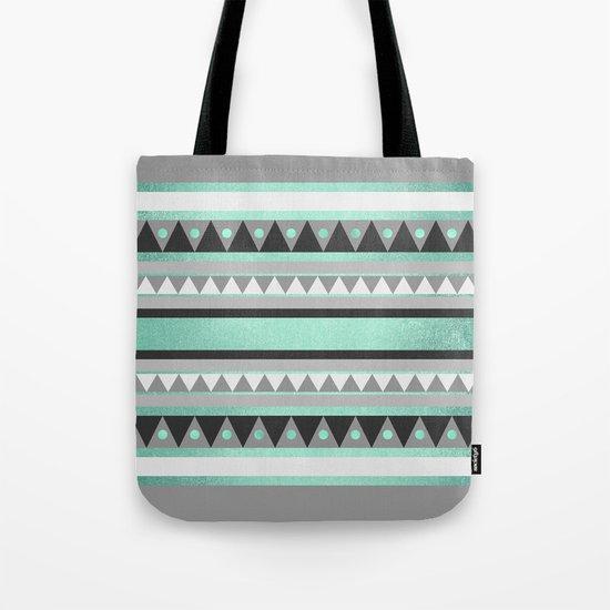 Turquoise Tribal Tote Bag