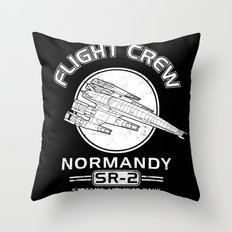 Normandy Flight Crew Throw Pillow