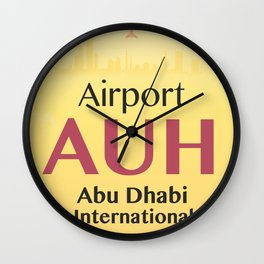 AUH Abu Dhabi airport code Wall Clock