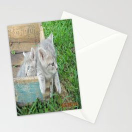 Twins chillin  Stationery Cards
