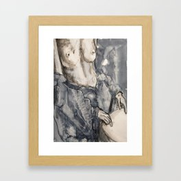 She was now inclined to be definitely pessimistic Framed Art Print