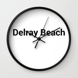 Delray Beach Wall Clock