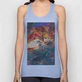 Bird in Expressionist Garden of Fire Unisex Tank Top