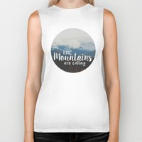 the mountains are calling Biker Tanks featuring The Mountains are Calling by AMN Photography and Design
