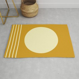 Summer Bright Golden Yellow Rug
