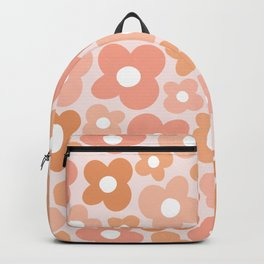 Peachy Pink Flower Power Backpack