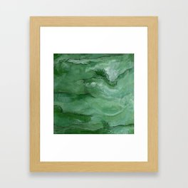 Jade - Original Art (encaustic painting) Framed Art Print