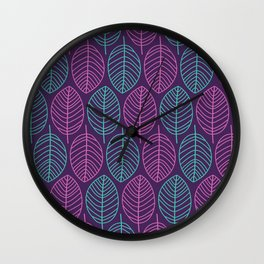 Leaf outlines Wall Clock