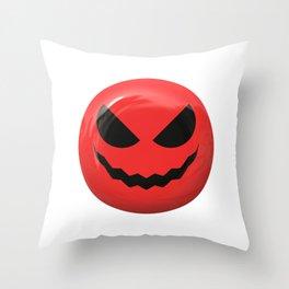Red face design Throw Pillow