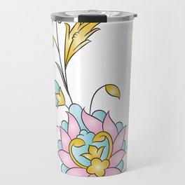 floral line Travel Mug