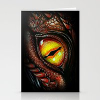 smaug Stationery Cards featuring Smaug eye by Artwork by Alex