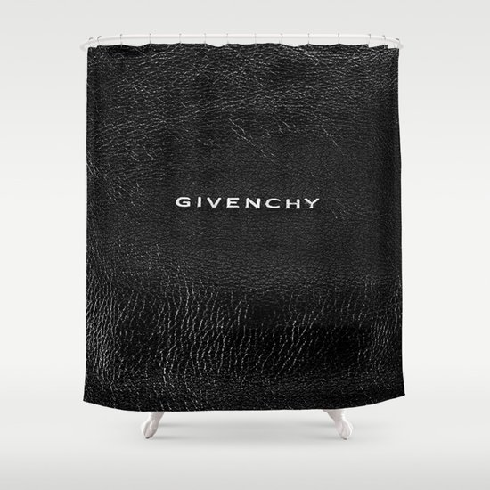 Givenchy Black Shower Curtain - Givenchy Black Shower Curtain By Luxe Glam Decor Society6