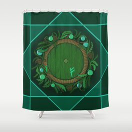 Halfling Holiday Shower Curtain