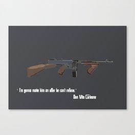 Tommy Gun Canvas Print