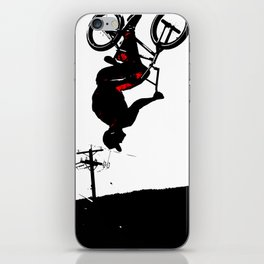 Daring Back-Flip - Freestyle BMX Bikers iPhone Skin