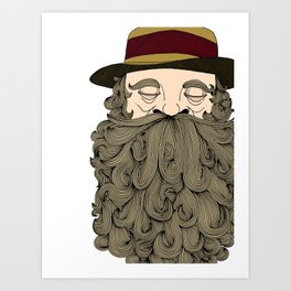 Musky Old Man Art Print