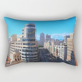 La Gran Via Rectangular Pillow