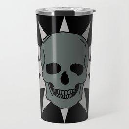 metal skull star Travel Mug