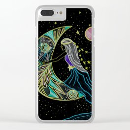 Moon Ride Clear iPhone Case
